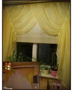 желтый цвет штор в интерьере