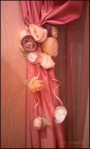 подхват для штор розы