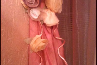 Подхваты для штор: розы