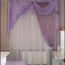 Сиреневые шторы для девочки