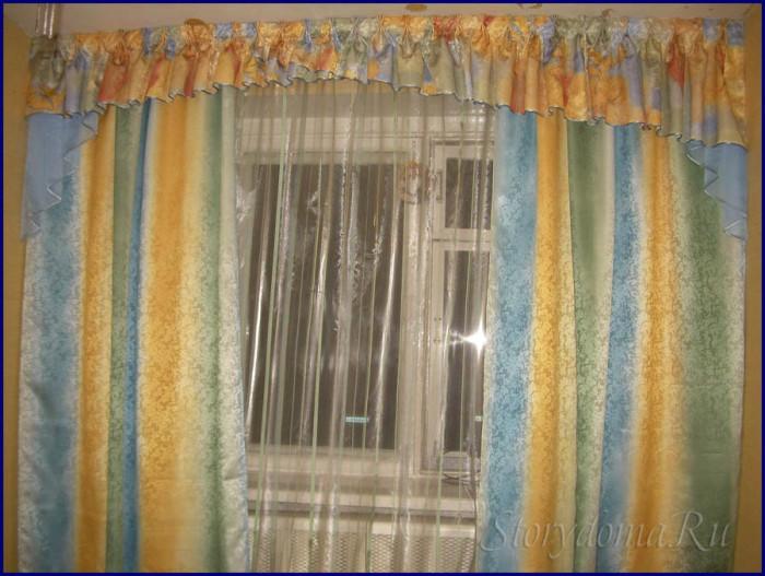 шторы желто голубые