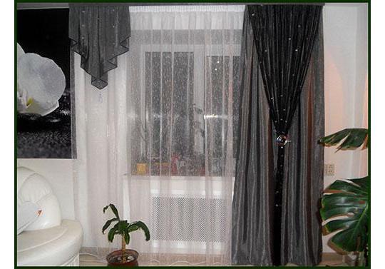 шторы нити в интерьере