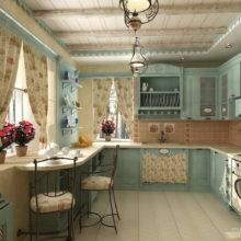 Шторы на кухню в стиле прованс.