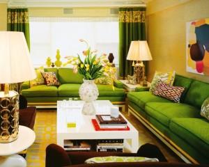 зеленыйa цвет в интерьере