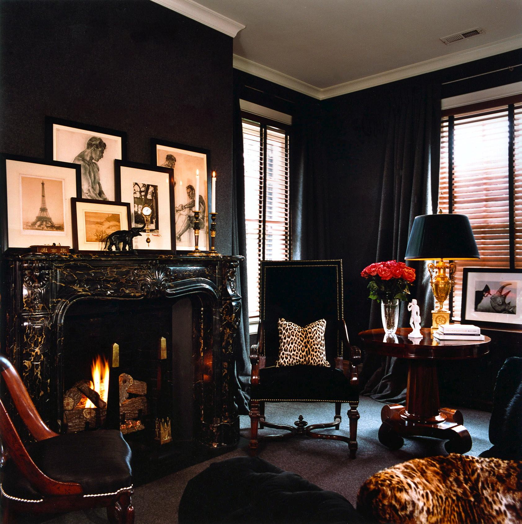 Дизайн интерьера в чёрном