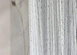 кисея дождь однотонная ярко белая