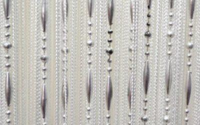 Кисея бусы белая