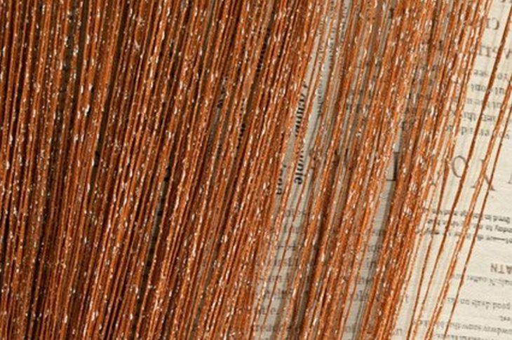 кисея дождь однотонная светло-коричневая