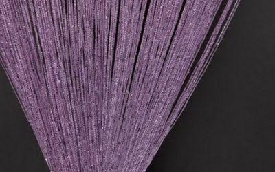 кисея дождь однотонная фиолетовый