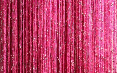 кисея дождь однотонная розовый