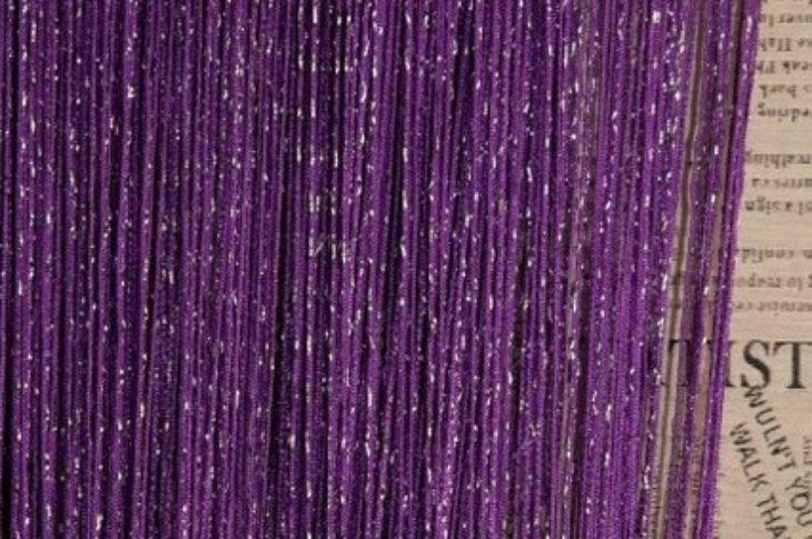 кисея дождь однотонная темно-фиолетовая