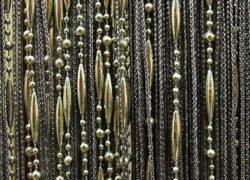 Кисея бусы золотисто-черная