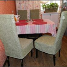 Чехлы на стулья для Уютного Дома.