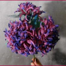Делаем хризантему из ткани. Мой мастер-класс.