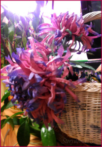 Хризантема из ткани