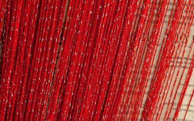 кисея дождь однотонная красный
