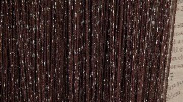 кисея дождь однотонная черная