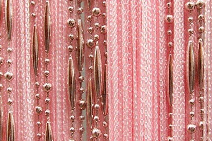 Кисея бусы золотисто-розовый
