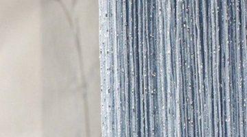 кисея дождь однотонная светло-голубой