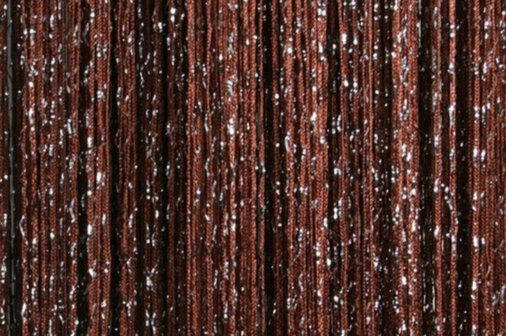 кисея дождь однотонная темно-коричневый
