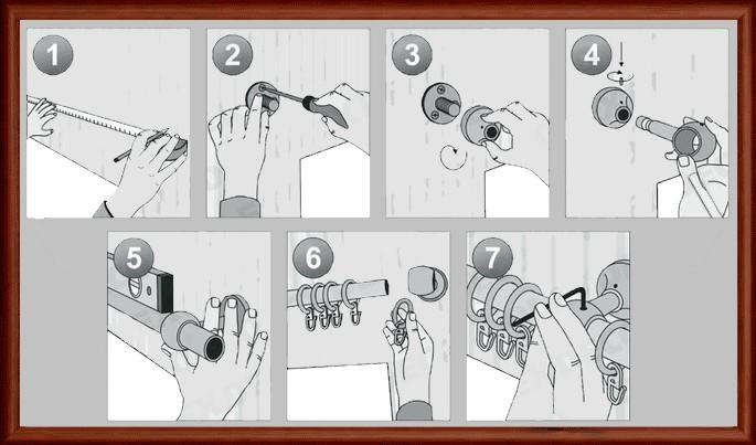 Как крепить карниз для штор с люверсами фото