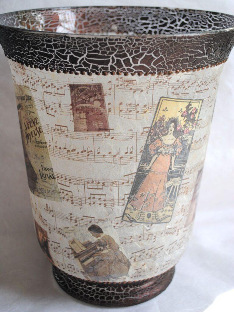 ваза с фацетным лаком