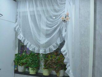 Короткие шторы на кухню своими руками